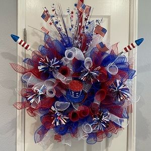 Large 4th of July Wreath